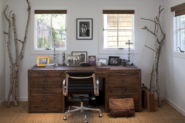 mill valley rustic-home-office