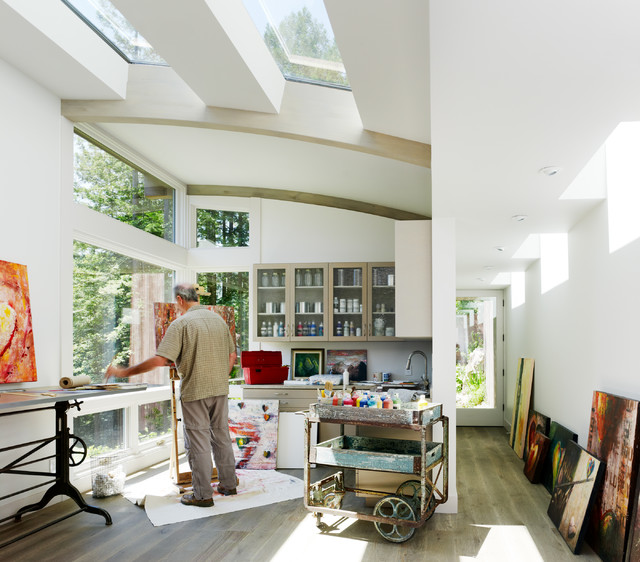 Mill valley cabins contemporary home office san for Mill valley architects