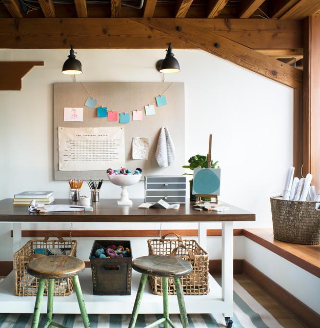 mill valley studio modern arbeitszimmer san francisco von jute interior design. Black Bedroom Furniture Sets. Home Design Ideas
