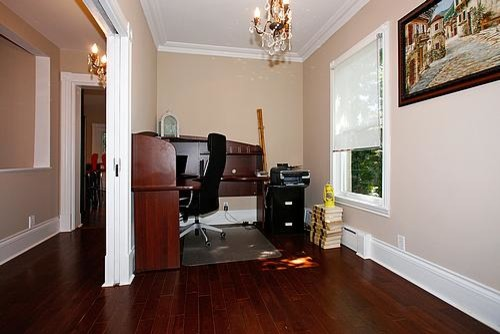 mixing modern with traditional century home traditional home office