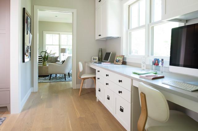 Modern Cape Cod Beach Style Home Office Minneapolis