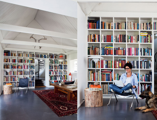 Modern Home Library Design Ideas contemporary-home-office