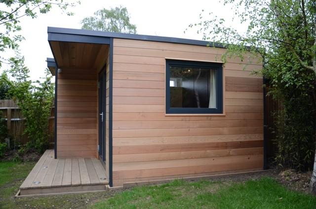 george clarkes amazing spaces curved wooden garden office garden