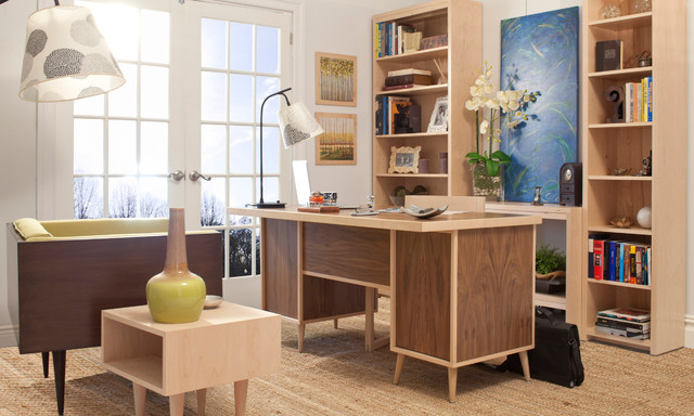 Modern Home Office Study midcentury-home-office
