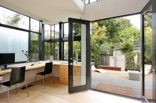 Indoor outdoor office space for Outdoor home office buildings