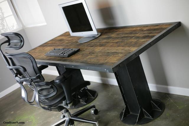 Modern Industrial Desk/ Table, Steel, I-Beam, Urban, Loft Decor, Mid Century