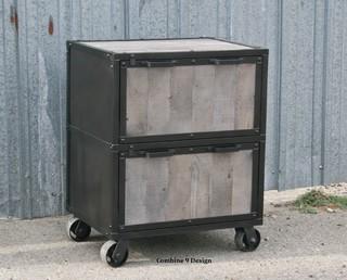 Modern Industrial File Cabinet. Reclaimed Vintage Wood ...