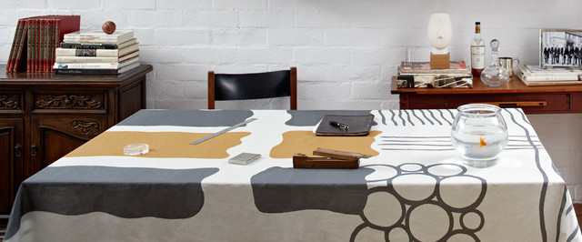Modern Linen Tablecloth By Huddleson Modern Home Office
