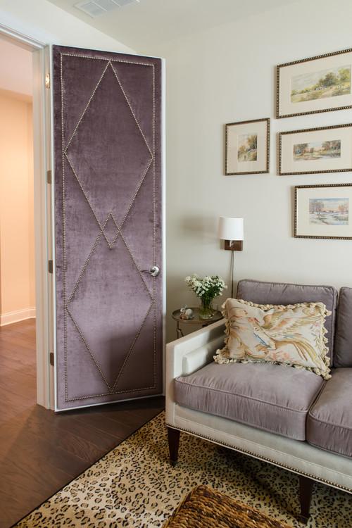 & velvet door and tacks