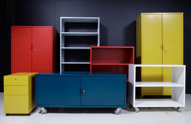 Modern Office Furniture - Metal Storage 1.0 - Modern - Home Office - portland - by Heartwork INC