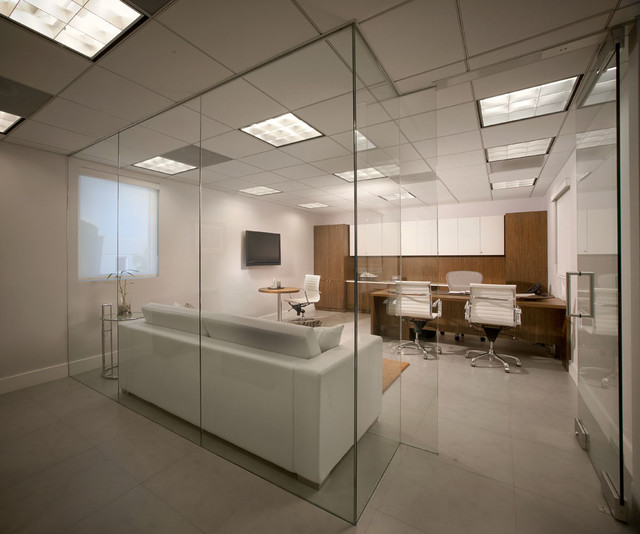 Modern office space contemporary home office miami for Modern house office