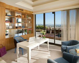 Modern penthouse contemporary home office san diego for Modern home decor san diego