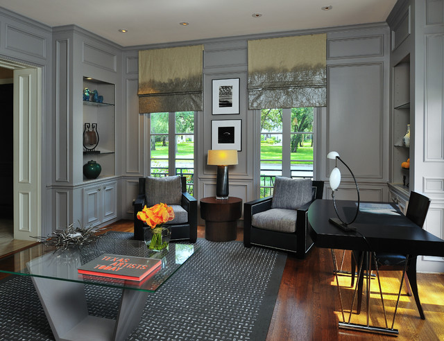 Modern residential project victorian home office for Modern home decor houston