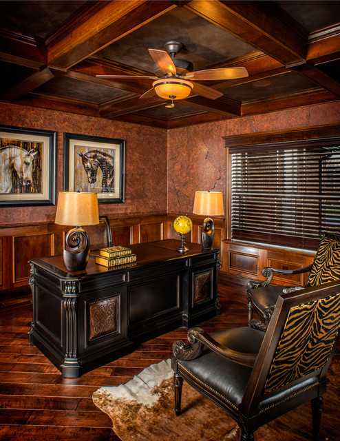 modern rustic refined ranch rustic home office charleston by