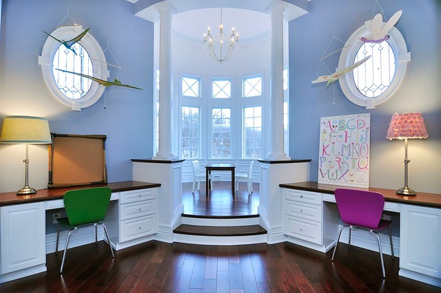 Modern victorian traditional home office other by for Victorian traditional homes