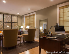Modern Wrigleyville (Chicago) Home Office contemporary-home-office