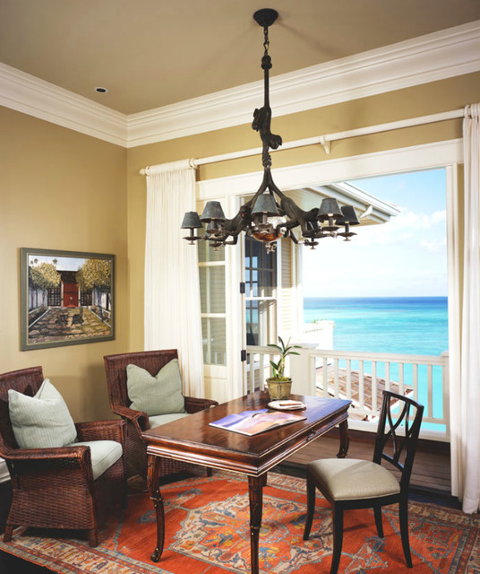 Home office - tropical home office idea in Tampa