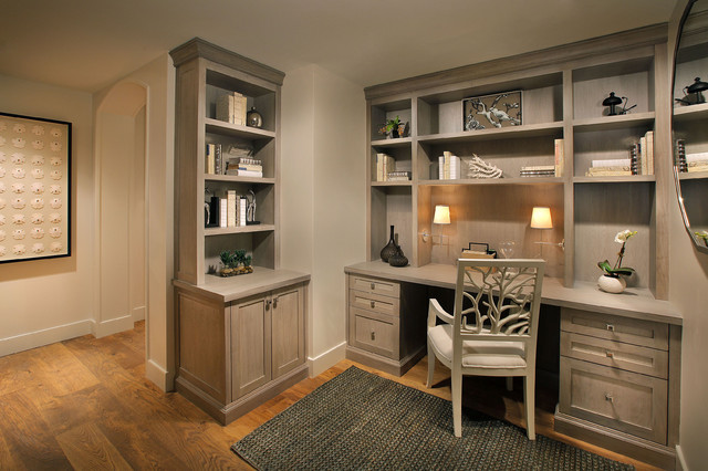 Moraya bay desk area for Office design houzz