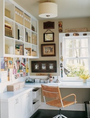 More This eclectic home office