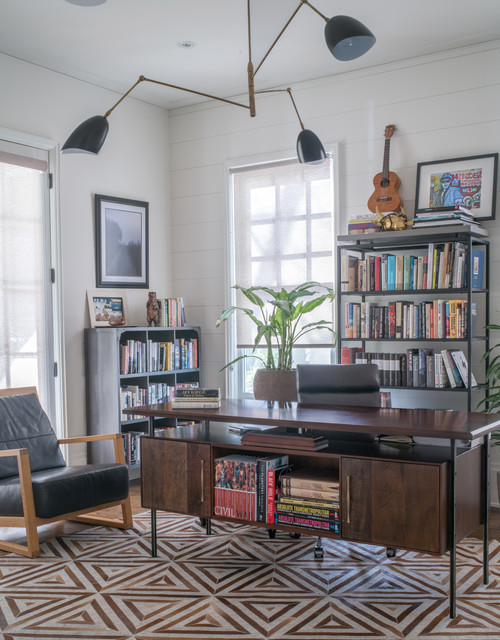 Beau Morningside Scandinavian Eclectic Home Transitional Home Office