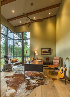 mountain side modern gem contemporary home office 11115 | contemporary home office