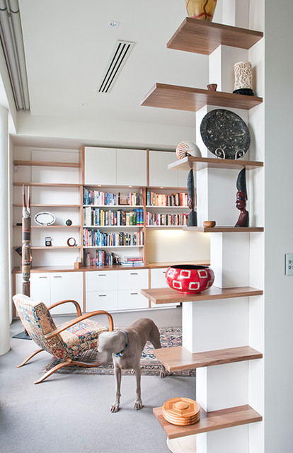 Muhlen Residence Feature Shelf Contemporary Home Office Melbourne By Designs Australia