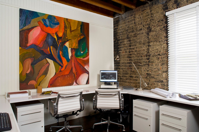 Multi-Functional Work Space - Contemporary - Home Office - New Orleans - by Kenneth Brown Design