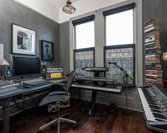 Music studio home design ideas pictures remodel and decor - Home recording studio design ideas ...