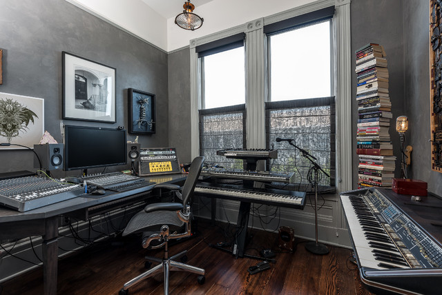 Simple Bedroom Recording Studio music studio | houzz
