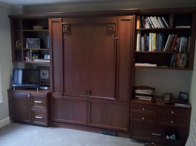 Murphy Bed Up Traditional Home Office Seattle By
