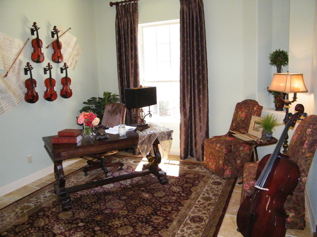Music Home Office traditional-home-office