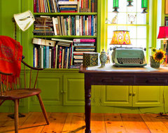 Eclectic Farm House farmhouse home office