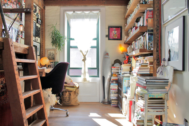 My Houzz: Antiques and curio items add interest to a Brooklyn brownstone - Rustic - Home Office ...