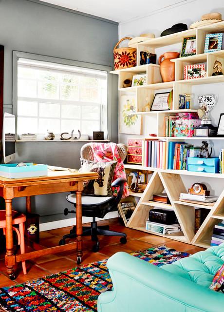 书房窗台混搭风格装饰图片
