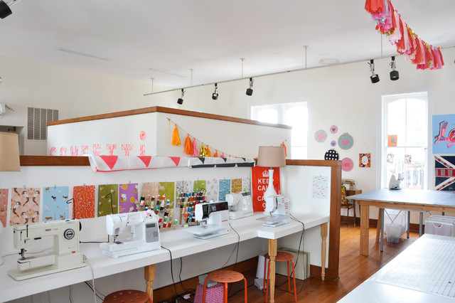 My Houzz: Craftiness And Color In 3 Charming Virginia Spaces Eclectic  Home Office