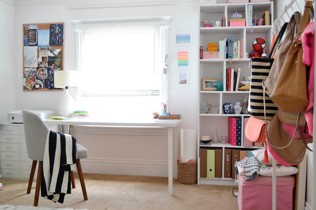 my houzz creative flair brightens a san francisco apartment eclectic home office apartment home office