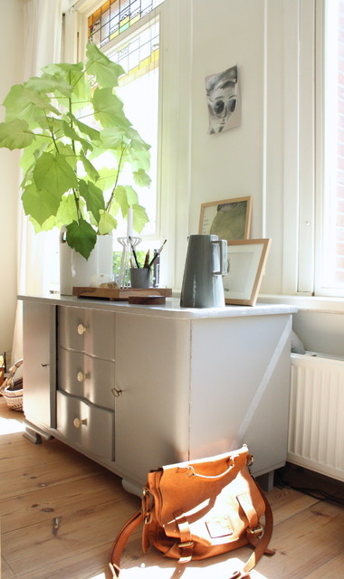 My Houzz: Eclectic Amsterdam Apartment eclectic-home-office