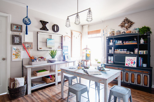 My Houzz: Farmhouse-Inspired DIY Style in a Suburban Kentucky Home