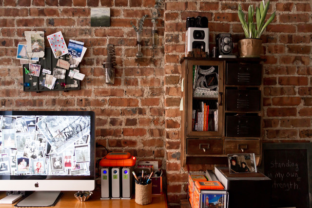 My Houzz: Living, Working and Storytelling in 300 Square Feet eclectic-home-office