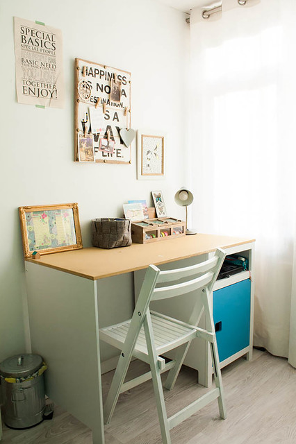 My Houzz: Revamped Flea Market Finds add personality to a Dutch home eclectic-home-office
