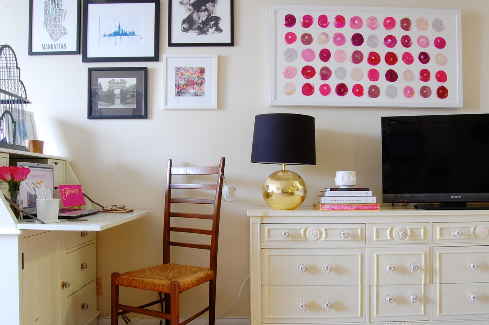 Inspiration for an eclectic home office remodel in New York