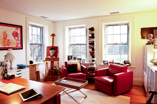 Historic Antique Federal-Style Becomes Bright and Roomy with R eclectic-home-office