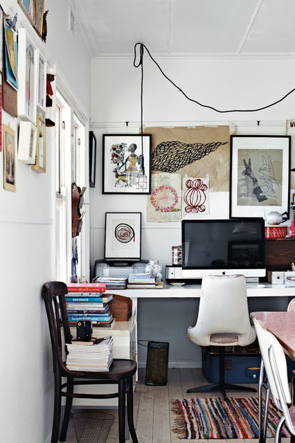 style shabby chic home office melbourne by sweet william