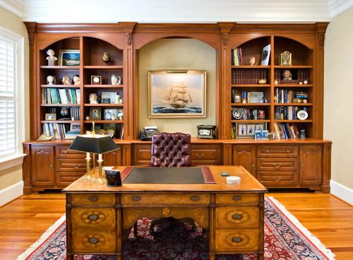 Предлагаем заказать услуги проектирования интерьера кабинета в классическом стиле