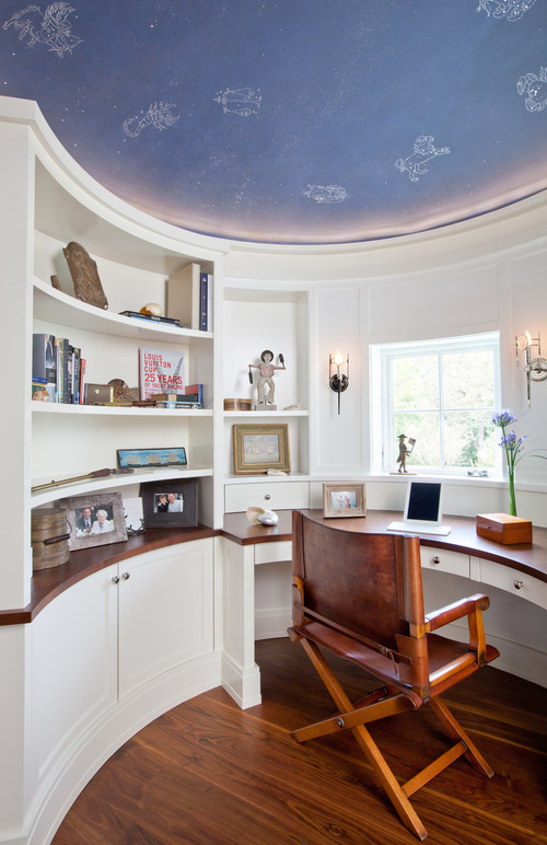 Beach Style Home Office by Osterville Architects & Building Designers Nicholaeff Architecture + Design