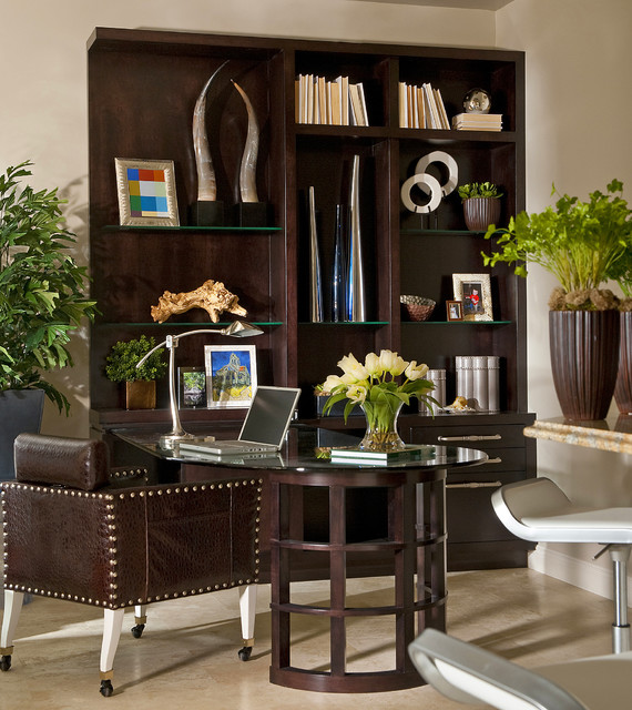 naples condo transitional home office other by