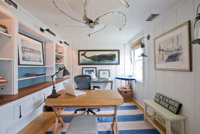 Nautical Cottage Beach Style Home Office