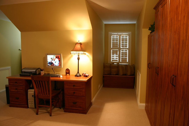 Need a Home Office, But Can't Find the Space? Crooked Oak Can Help! traditional-home-office