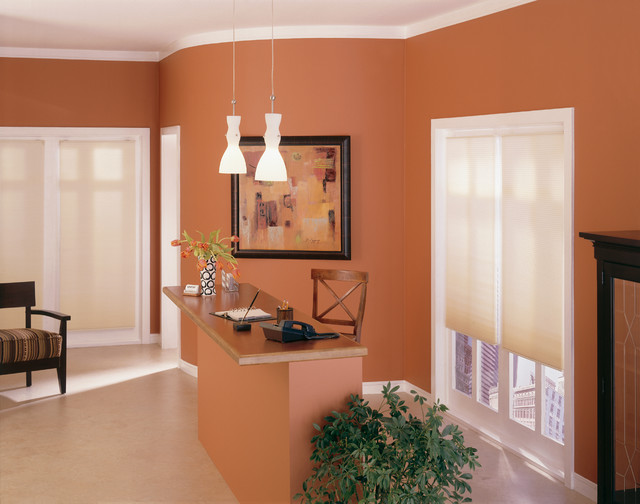 Neutral Shades Complement Any Wall Color Contemporary Home Office