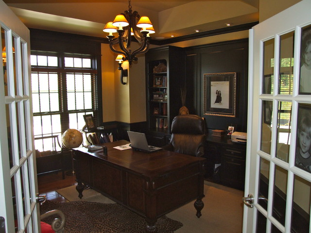 New Construction traditional-home-office